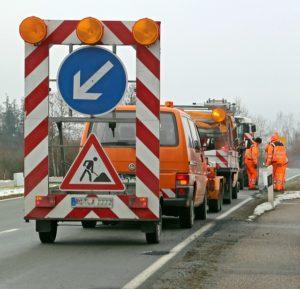 práce na silnici